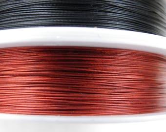 1 reel 100 m 0.30 Tiger tail wire mm color orange