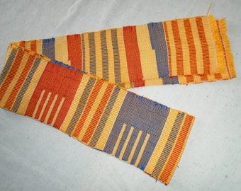 Kente Strip, Hand Woven, Ghana Africa