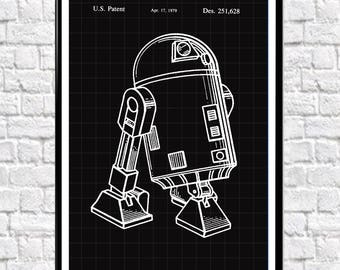 Star Wars Patent R2-D2 Star Wars Gift Patent Poster 1978 Star Wars Movie Poster Star Wars Decor Patent Wall Art Patent Prints #WB012