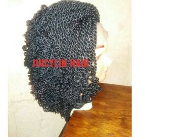 Kinky lace wig braided wig natural hair