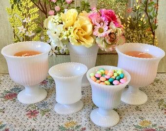 Milk Glass Vases for Wedding Centerpiece Vases for Wedding White Vases Pedestal Vase Candy Dish Party Centerpieces Bridal Shower Centerpiece