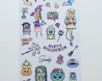 Happy Halloween MINI Deco Planner Stickers