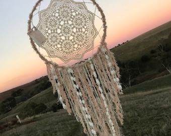 Coffee toned crochet handmade dream catcherwith   dreamcatcher Wedding