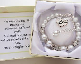 Mother of the groom Wedding Bracelet  Mother of the Groom Bracelet Mother of the Groom Gift grooms mom gift mother of the groom jewelry gift