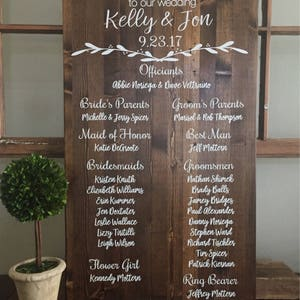 Rustic Wedding Welcome Sign Wedding Program Sign Alternative