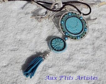 """Jane Ane"" turquoise pendant"