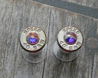 40 Caliber Bullet Stud Earrings