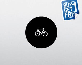 Bicycle - Macbook Apple Decal Sticker / Laptop Decal / Apple Logo Cover / 2 for 1 price