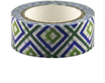 5 Metters Washi tape Masking tape pattern tribal Africa, 1 roll of adhesive paper, gift wrapping, scrapbooking