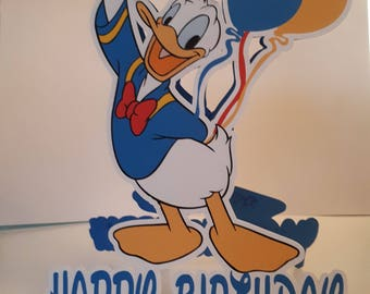 Donald Duck shaped card, Donald Duck Birthday Card, Disney Donald Duck, Shaped Birthday Card, Card for him, Birthday Boy, Birthday Girl