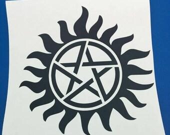 Supernatural Anti possession vinyl sticker