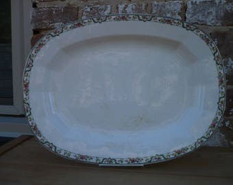 Large China Platter , Turkey Platter, Knowles