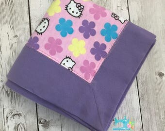 Flannel Baby Receiving Blanket - Hello Kitty