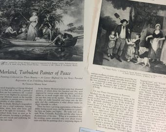 Morland, Turbulent Painter of Peace, England Antiquarian MAGAZINE ARTICLE 1928