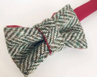 Brown Tweed Bow Tie