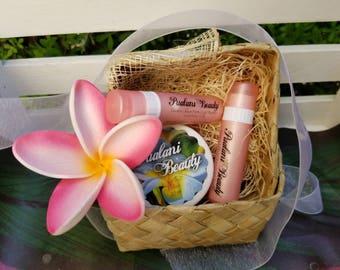 Hawaiian Lip Gift Set | Shave Ice Lip Scrub | Lilikoi Coconut | Guava | Hawaiian  | Natural | Lip Balm | Lip Scrub | Gift | Gift Set