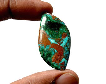 Chrysocolla 28 Cts AAA Quality Natural Gemstone Attractive Designer Free Form Shape Cabochon 37x20x4.5 MM R14148