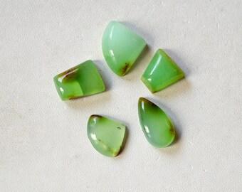 Chrysoprase Gemstone Cabochon Wholesale Lot 33 Cts Natural Beautiful Green  Multi Shape R14278