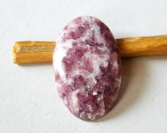 Lepidolite Gemstone Cabochon 30.5 Cts Natural Designer Lepidolite Oval Shape 33x21x5 MM R14298