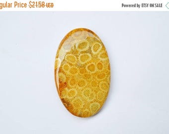 80% Sale 66.5 Cts Natural Indonesian Fossil Coral Gemstone Cabochon Awesome Oval Fossil coral Loose Cabochon 46x29x6 MM R09014