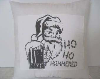 Funny Santa Pillow, Santa Claus Christmas Throw Pillow, Christmas Pillow, Santa Pillow