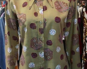 1970' Pierre Cardin waisted shirt. Size M.