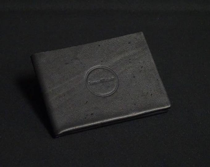 6Pocket Wallet - Soft Black - Kangaroo leather with RFID credit card blocking - Handmade - Mens/Womens - James Watson