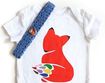 Fox Gift Set / Boy Baby Shower Gift Set / Fox Baby Gift Set  / Fox Baby Outfit / Boy Coming Home Outfit / Baby Boy Gift / Fox Headband