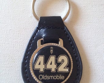 Oldsmobile 442 Keychain Genuine Leather Key Chain