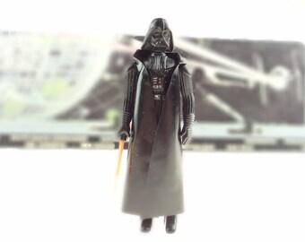 Vintage Darth Vader Action Figure With Cape And Light Saber Star Wars  1977