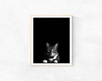Cat Print, Home Wall Decor,Kids Room, Nursery, Animal Print, Printable Wall Art, Cat Poster, Black and White Art, Housewarming Gift