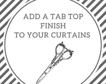 SALE Add tab tops to your curtains | Tab top curtains | Tab top