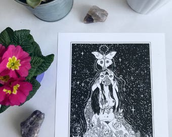 """Tarot Card print """"The Devil"""" by Madison Ross"""