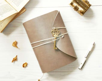 "Book of Secrets - Handmade Leather Journal A5 / 6×8"""