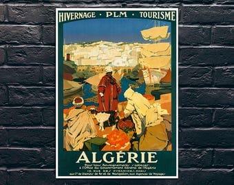 Algeria Travel Print, Vintage Travel Poster, Tourism Wall Art, Vintage Travel Poster