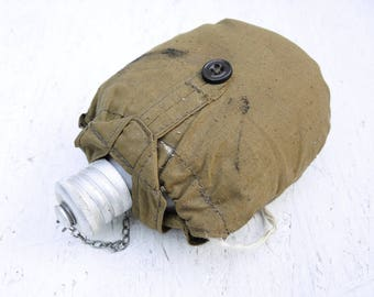 Soviet Military Flask - Military Water Bottle - Vintage Military Flask