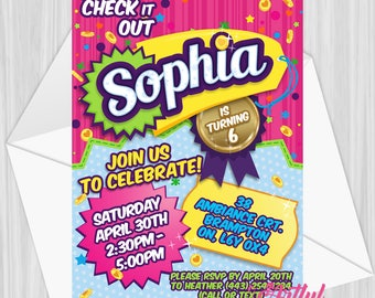 Printable Shopping Party Invitation | Personalized