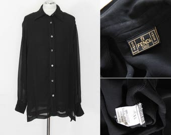 FENDI Vintage 90s sheer blouse