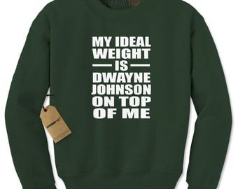Dwayne Johnson On Top Of Me Adult Crewneck Sweatshirt