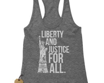 Liberty And Justice For All Racerback Tank Top for Women