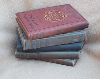 Antique School Books; Antique Text Books