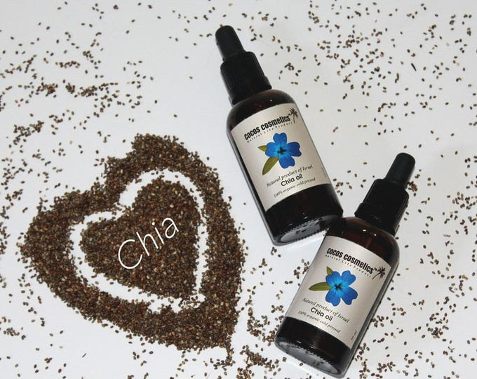 Chia seed oil - Organic cold pressed 100% natural chia seed oil, undiluted & vegan friendly