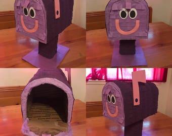 Mailbox Prop / purple Mailbox Piñata / blues mailbox prop - piñata