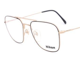 Nikon NK 4433 vintage square eyeglasses made in Japan 90's