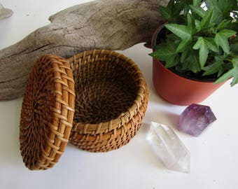 Balsa Wood Woven Basket