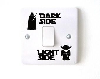 Star Wars Darth Vader, Yoda light switch wall decal