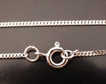 """18"""" Sterling Silver Curb Chain"""