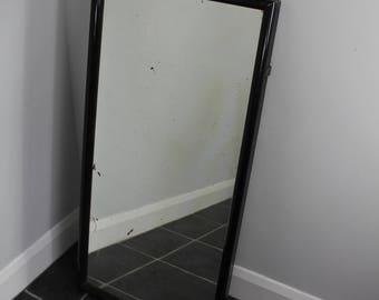 vintage ebonised shop mirror