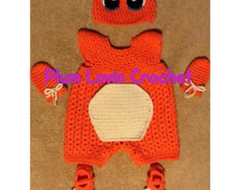 Crochet Charmander looking outfit