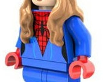 Spider-Girl Custom Minifigure 100% LEGO Compatible! Marvel Comics Spider man Movie Character